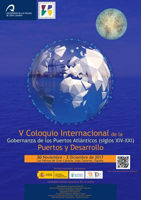 Cartel v coloquio internacional de la gobernanza de los puertos atlanticos