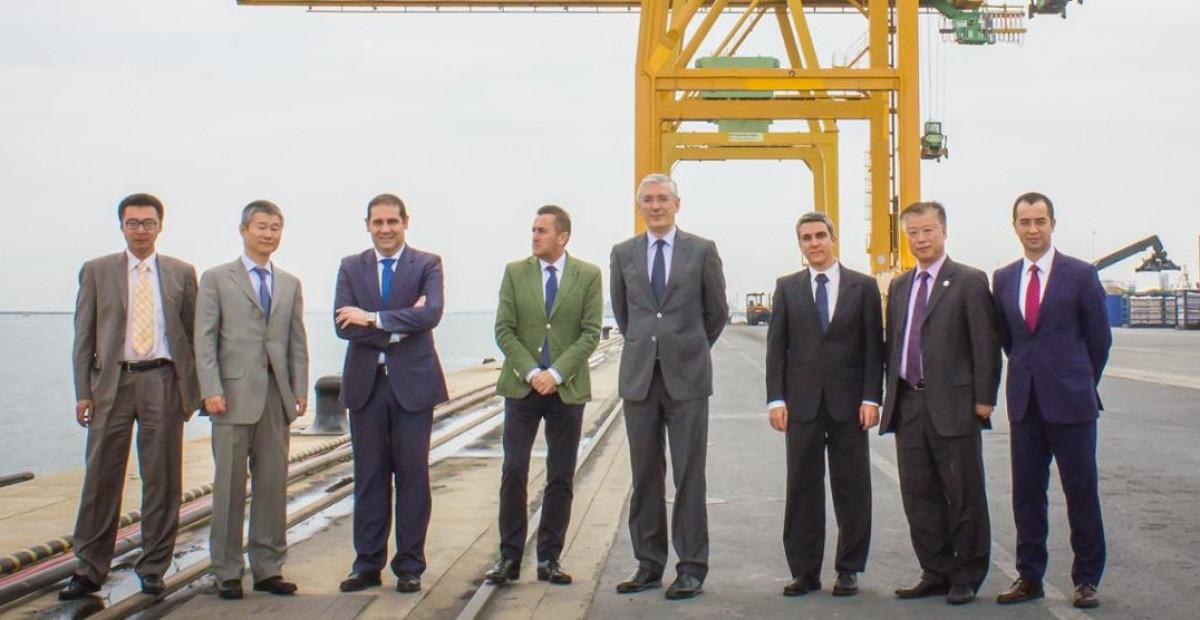 Puerto de Huelva   visita delegacion comercial china cosco