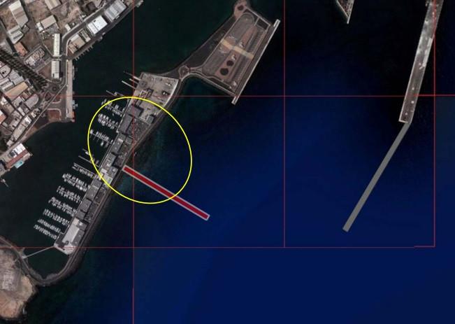 Puertos de Las Palmas   Puerto de Arrecife   Contradique muelle de Naos