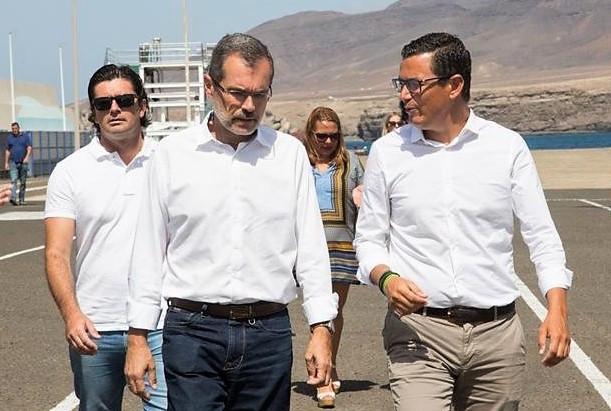 Puertos Canarios   Visita Pablo Rodru00edguez   Fuerteventura