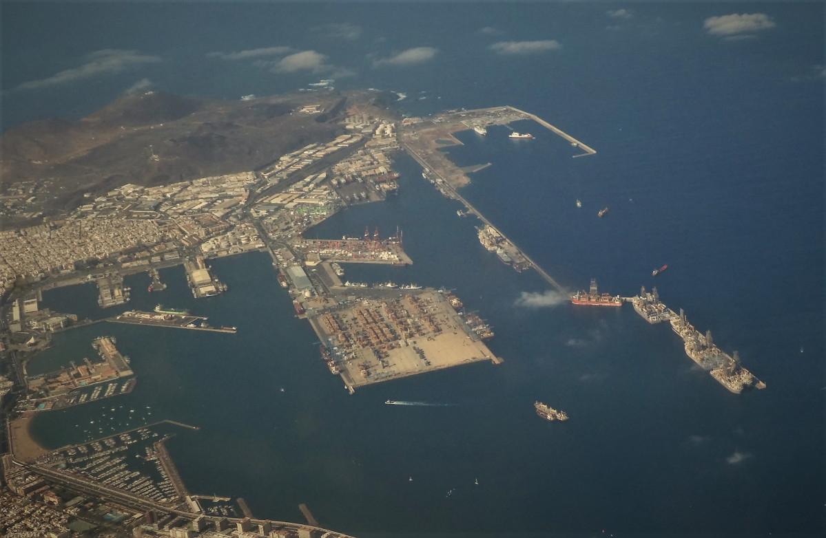 Puertos de Las Palmas   panorámica oct 18