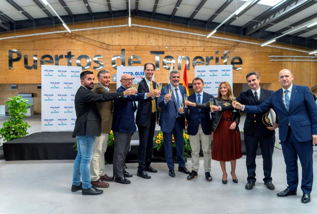 Fred Olsen   Balearia   Inauguraciu00f3n ruta Canarias   Huelva