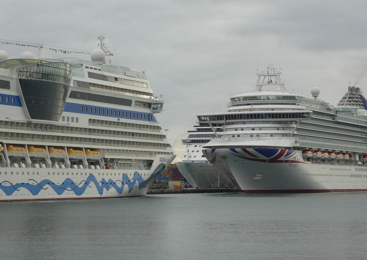 Puertos de Las Palmas   tres cruceros en nov18