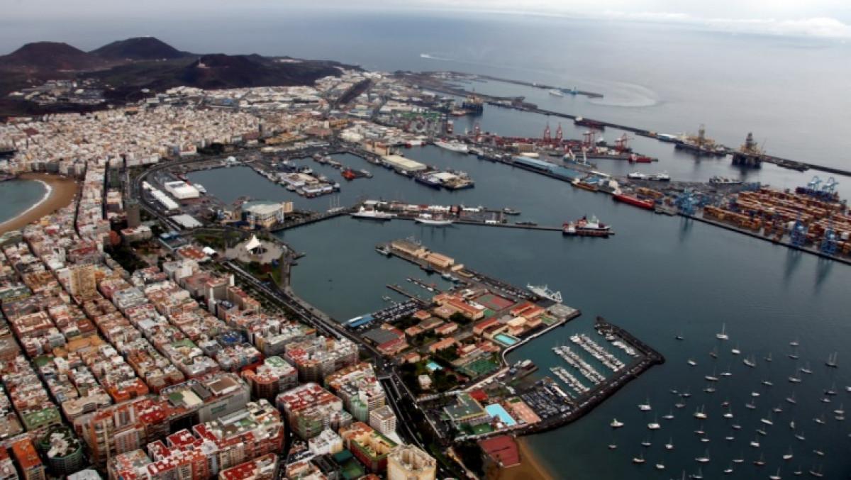 Puerto de Las Palmas   panoru00e1mica parcial