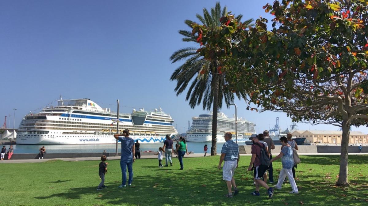 Puertos de Las Palmas   Cruceros panoru00e1mica feb19