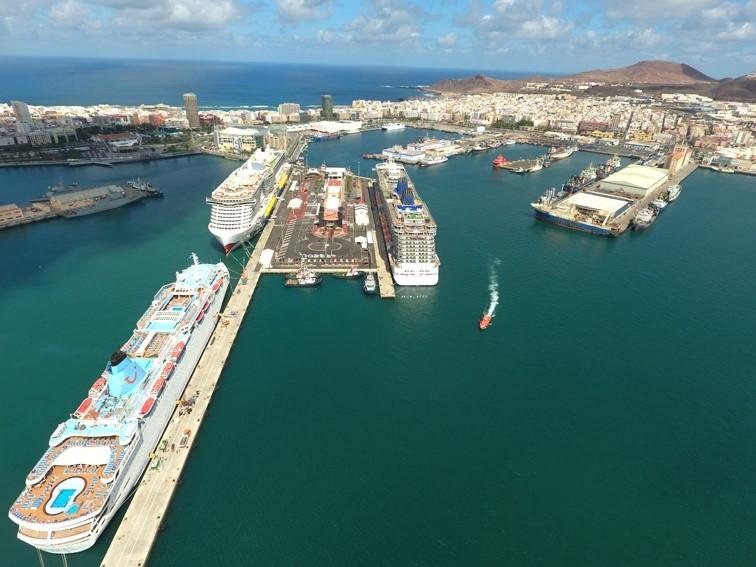 Puerto Las Palmas   Panoru00e1mica cruceros   may19