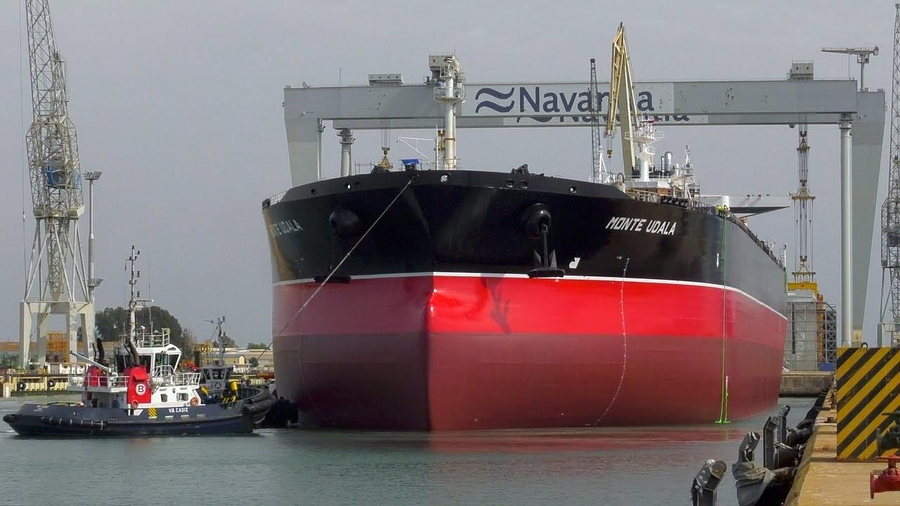 Navantia entrega el primero de los petroleros Suezmax en Puerto Real
